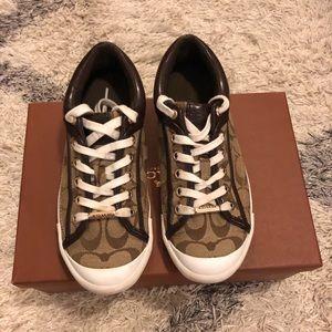 "Coach sneakers ""Francesca"" khaki/chestnut size 7"